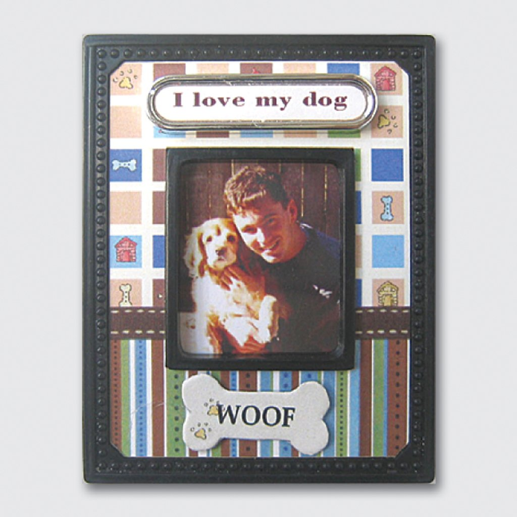 Photo Frame Magnet Mini - I Love My Dog