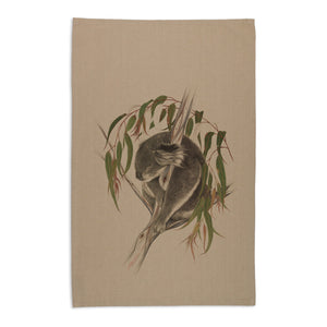 Linen press Tea Towel - Koala Printed Organic Cotton valuezy australia