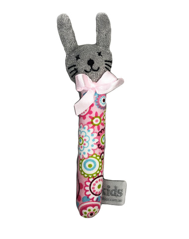 Baby Toy - Bunny Rattle Pink Floral Valuezy