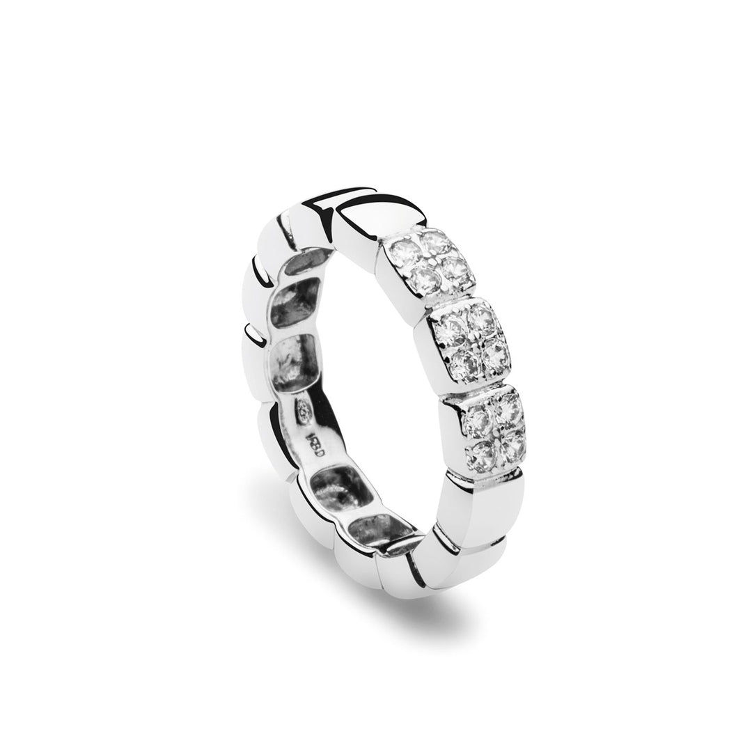 Funky Square Ring Zirkonia