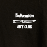 """BOHEMIAN ART CLUB"" EMBROIDERED TEE"