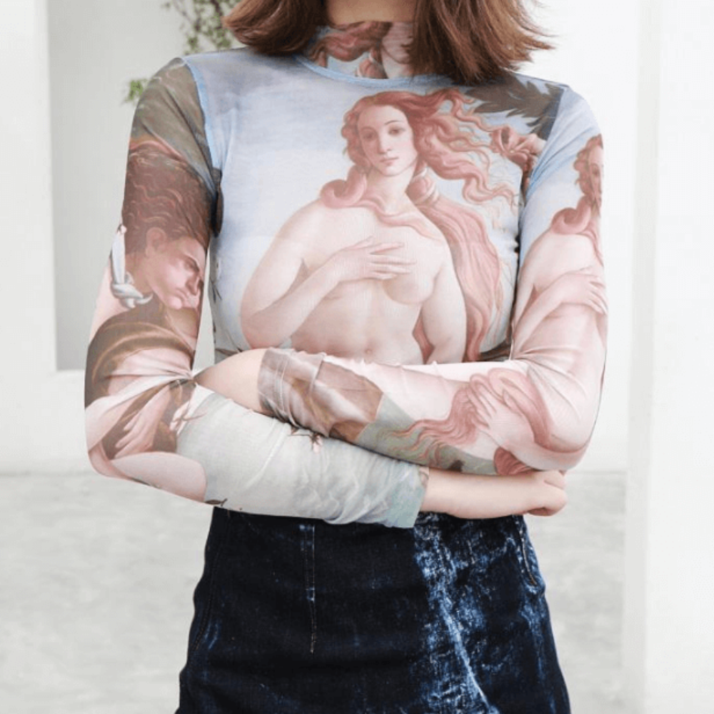 """BIRTH OF VENUS"" LONG SLEEVE TOP"