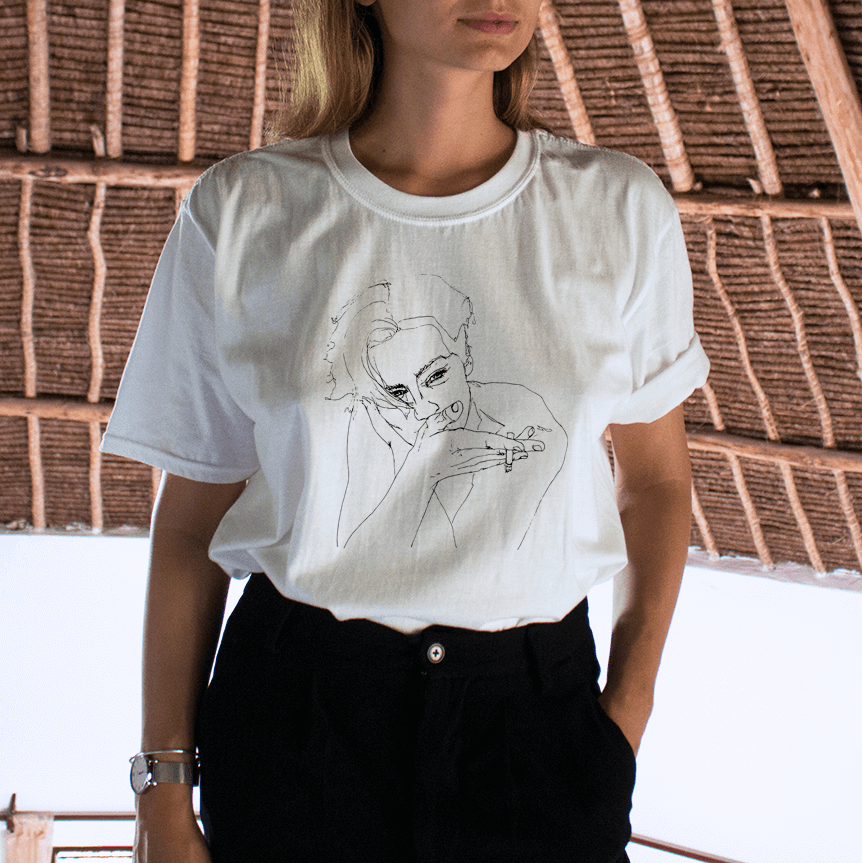 """LINE PORTRAIT"" DRAWING TEE"