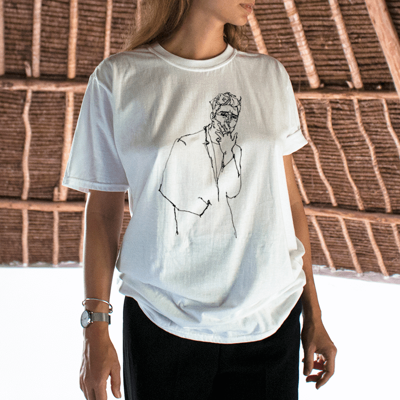 """F OFF"" DRAWING TEE"