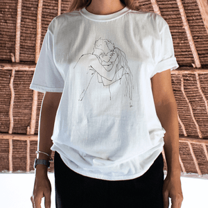 """YOU & I"" HAND DRAWING TEE"