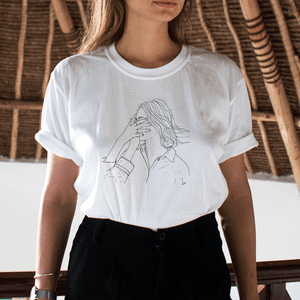 """BABE"" DRAWING TEE"