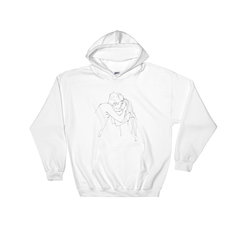 """YOU & I"" HAND DRAWING HOODIE"