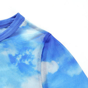 """Clouds Mesh"" Crop Top"