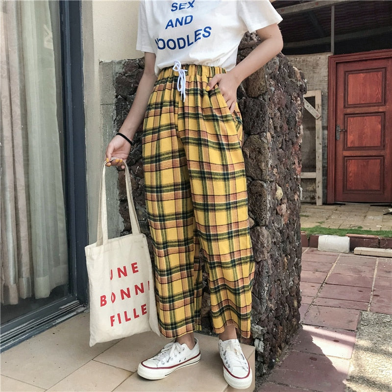"""YELLOW PLAID"" PANTS"