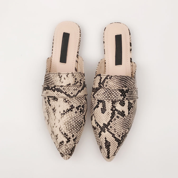 """SERPENTINE SLIPPERS"""