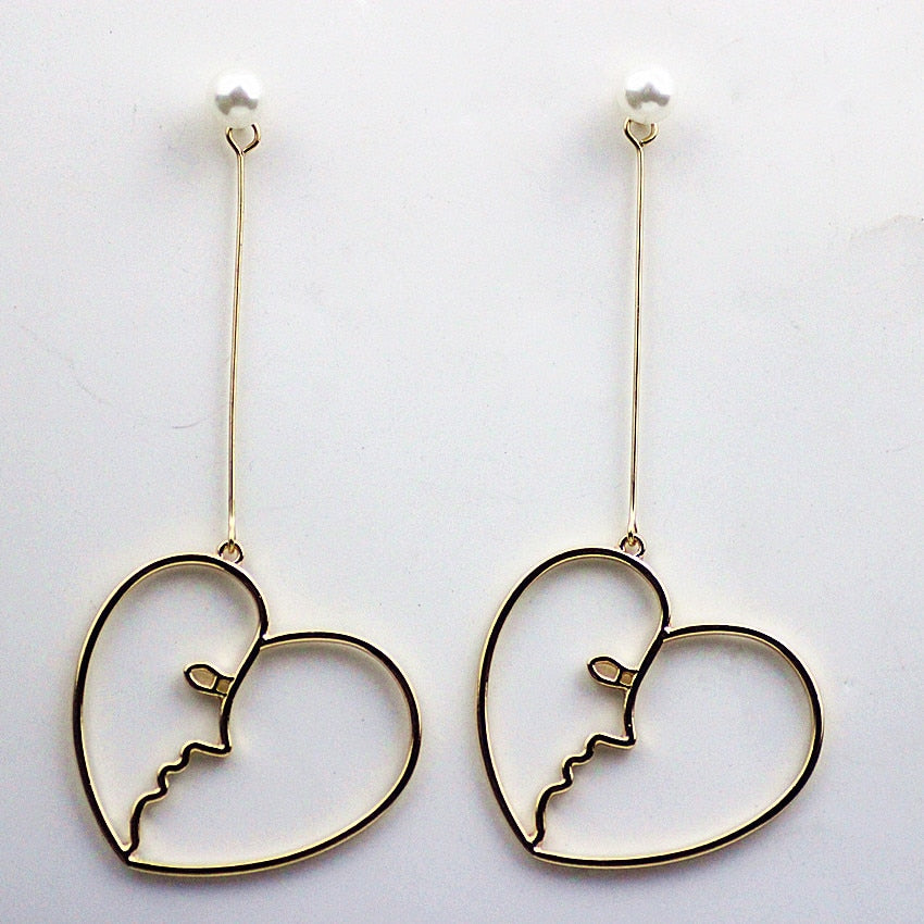 """HEART FACES"" EARRINGS"