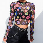 """FLOWER MESH"" CROP TOP"