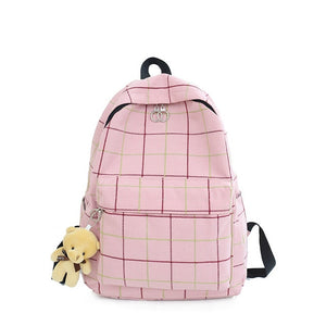 """Plaid Canvas"" Backpack"