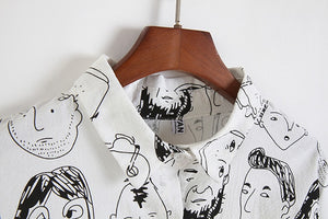 """FACES DRAWING"" SHIRT"