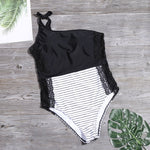 """ARTY SHOULDER LACE"" SWIMSUIT"