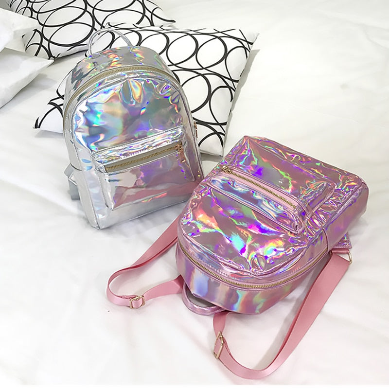 """ Edgy Holographic"" Backpack"