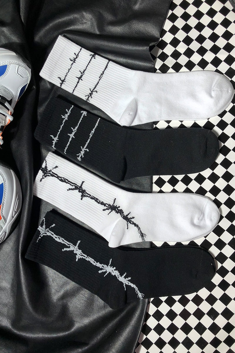 """Barbed Wire"" SOCKS"