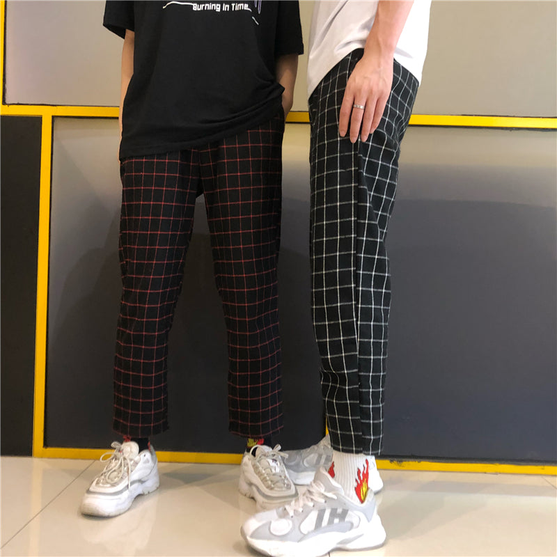 """ART PLAID BLOCK""  PANTS"