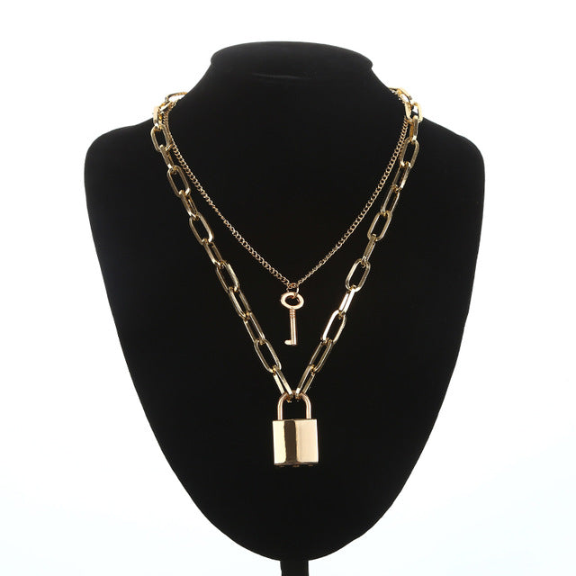 """Lock Chain"" Necklaces"