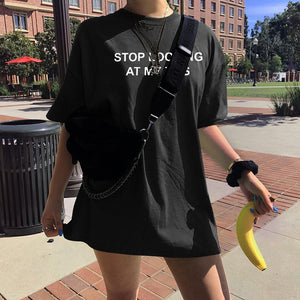 """Stop Looking At My Tits"" TEE"