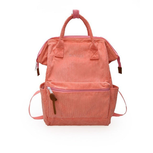 """Aesthetic Corduroy"" Backpacks"