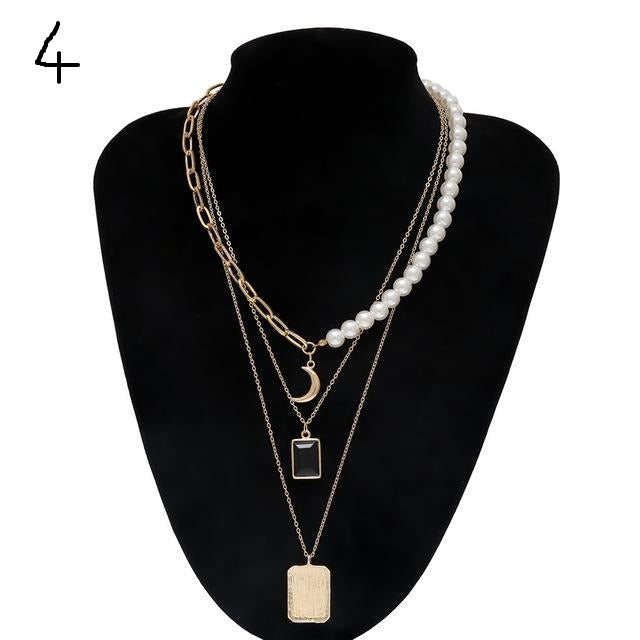 """Multi Layered Necklaces"""