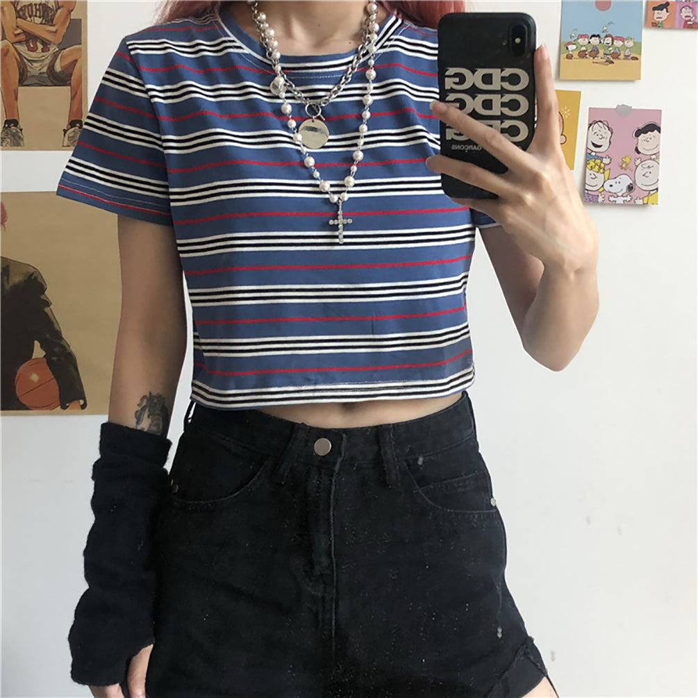 """Aesthetic Stripes"" CROP TOP"