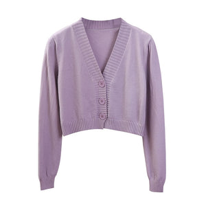 """Aesthetic Cropped Cardigan"""