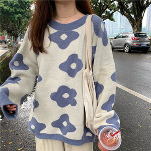 """Arty Flowers"" SWEATER"