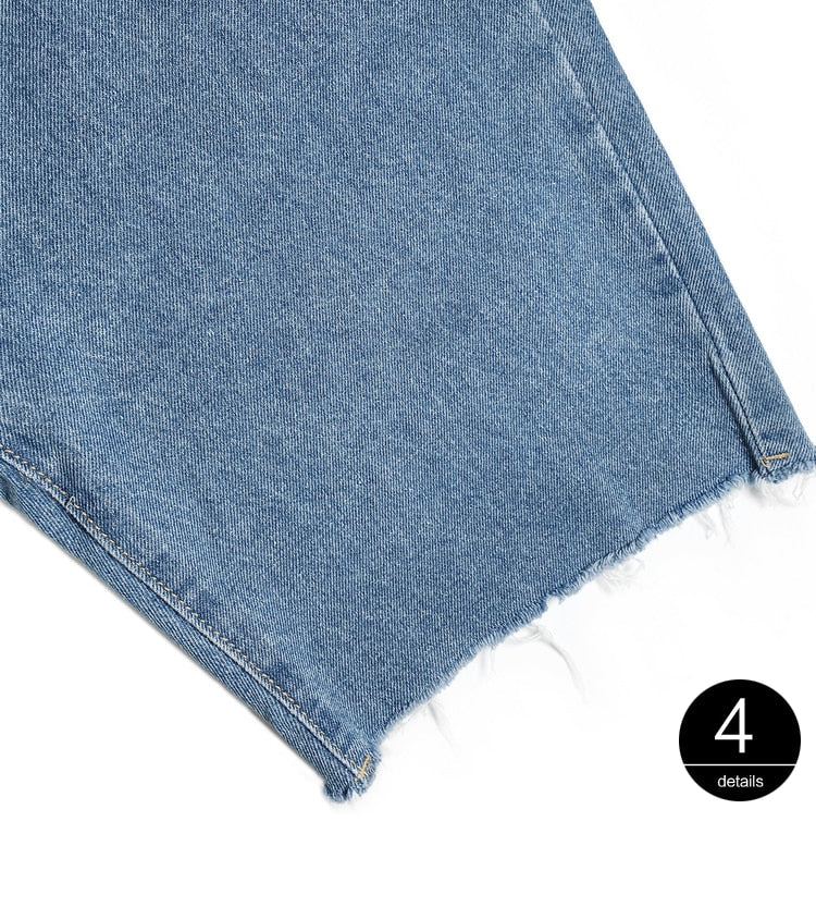 """PATCHWORK DETACHABLE"" HIGH WAIST JEANS"