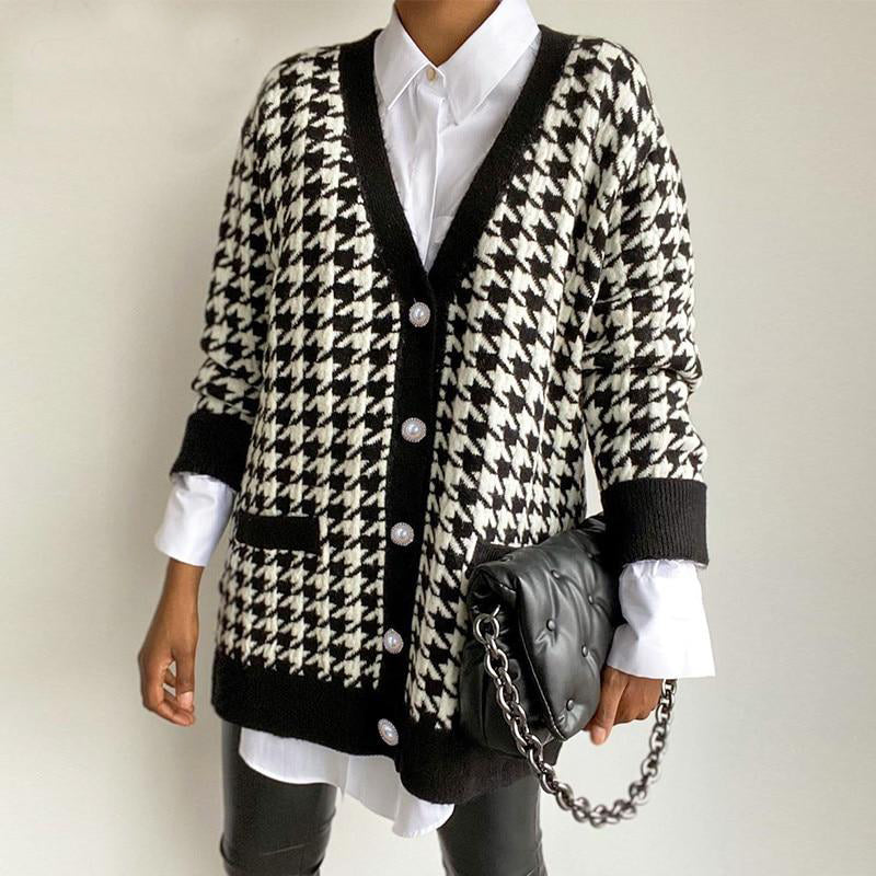 """Loose Knitted V"" CARDIGAN"