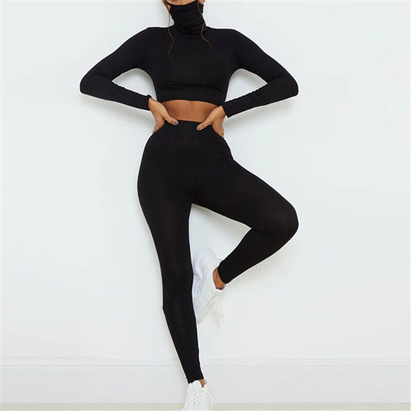 """Crop Top Mask & Leggings"" SET"