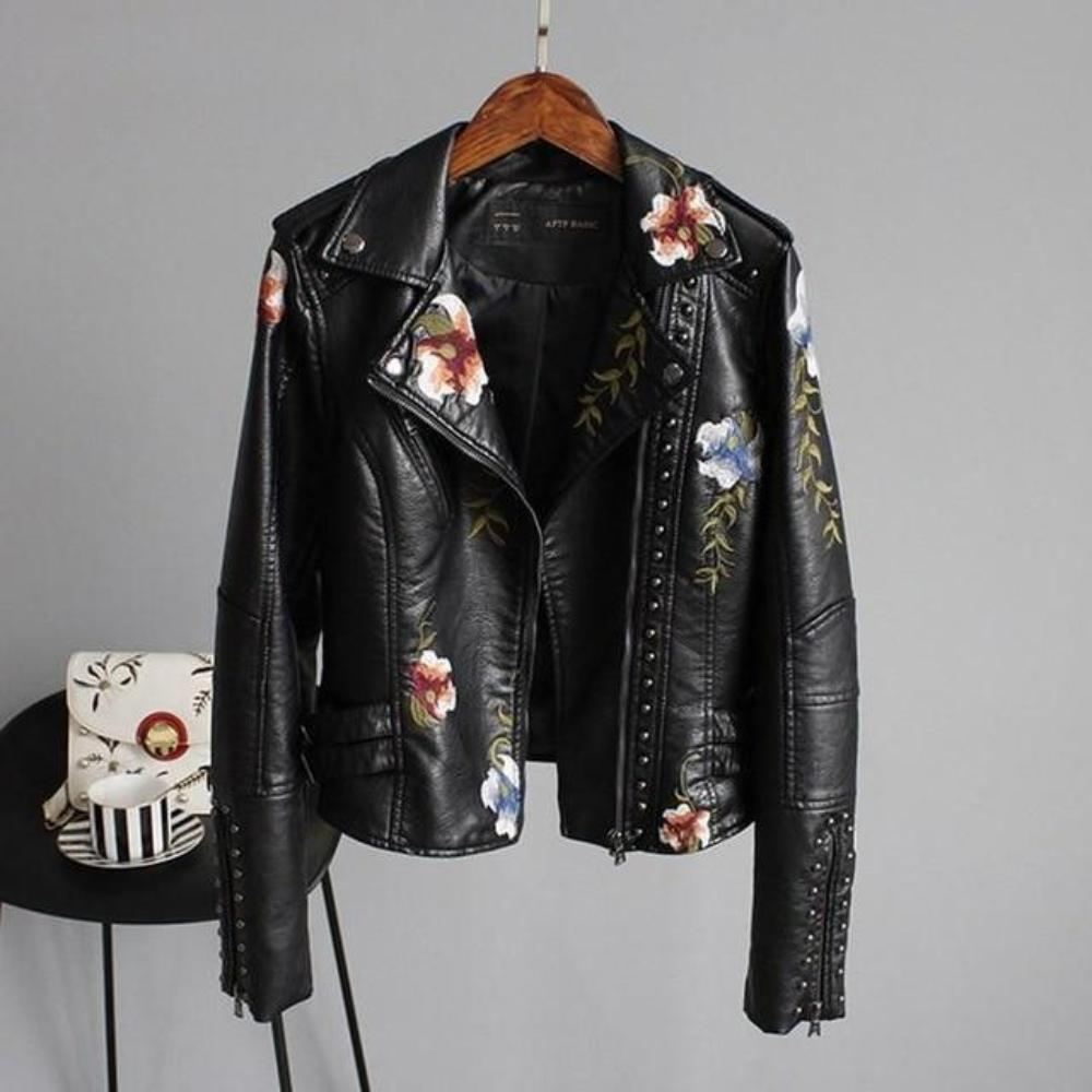 """FLORAL ART"" PERFECTO JACKET"