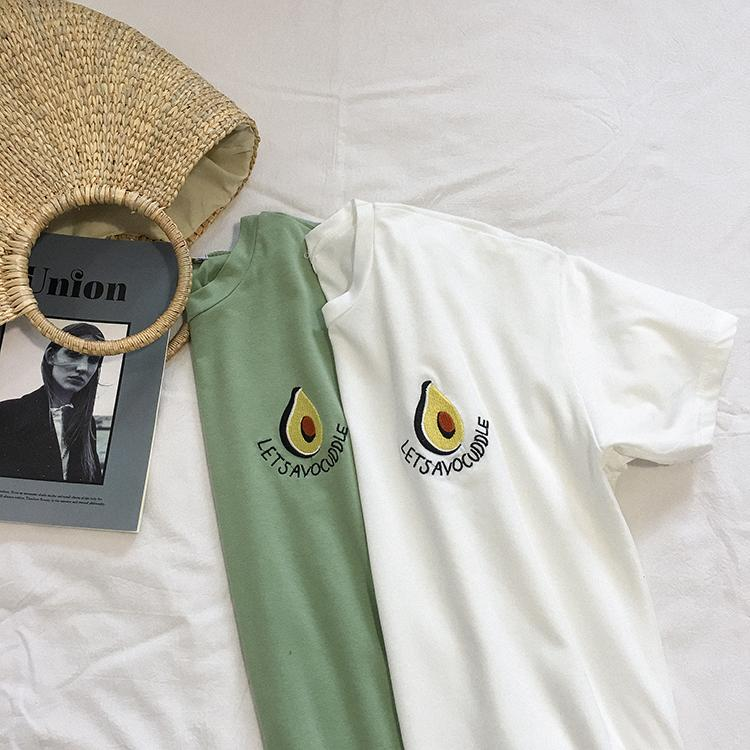 """AVOCADO"" EMBROIDERED TEE"