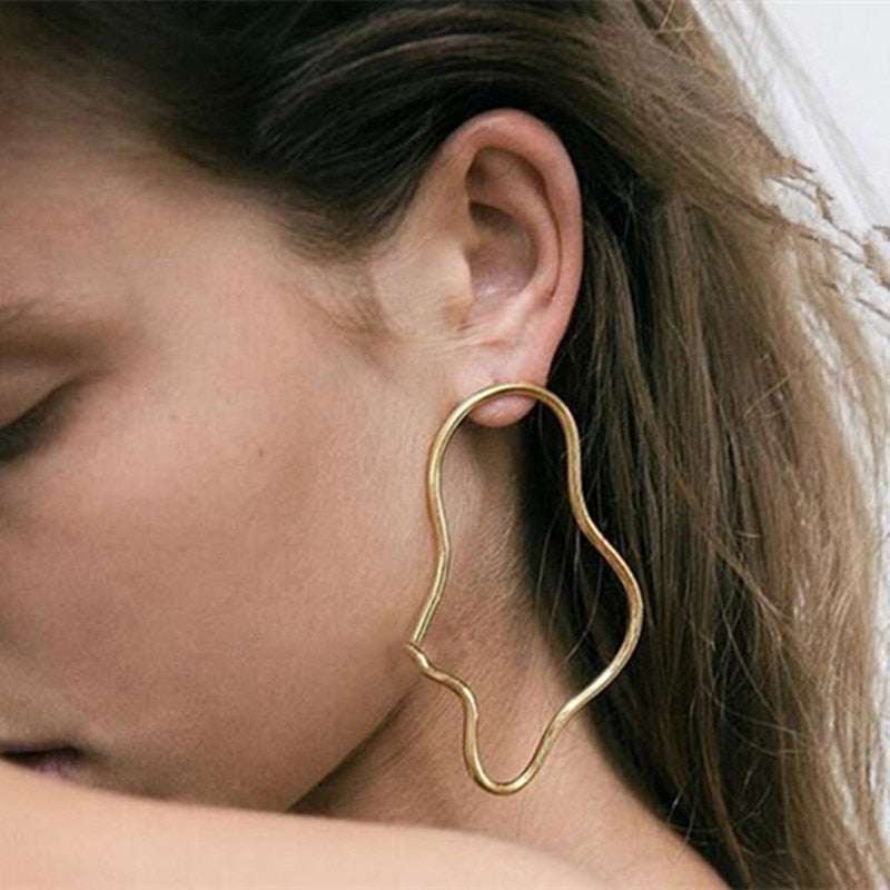 """ABSTRACT LINE"" EARRINGS"