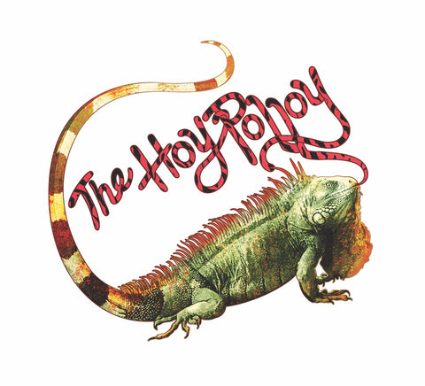 The Hoy Polloy SLAPS! Iguana Licking Logo