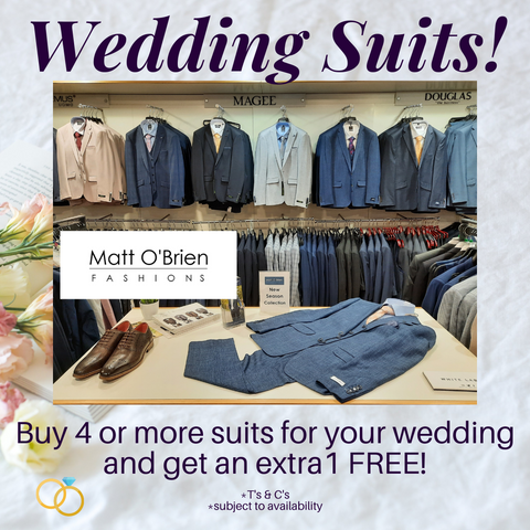 Wedding Suits Special Offer From Matt O'Brien Fashions