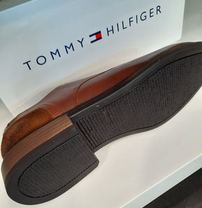 Tommy Hilfiger Leather Mix Shoe Cognac