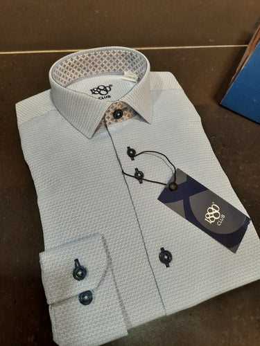 1880 Club Junior Boys Formal Shirt Blue