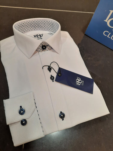 1880 Club Junior Boys Formal Shirt White
