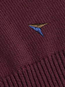 Drifter Crew Neck Jumper Burgundy