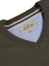 Load image into Gallery viewer, Drifter V Neck Sweater Dark Olive
