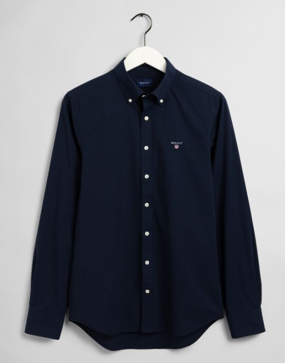 GANT Broadcloth Slim Fit Button Down Shirt Marine