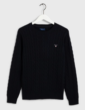 Load image into Gallery viewer, GANT Cotton Cable Crew Evening Blue
