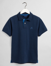 Load image into Gallery viewer, GANT Contrast Collar Pique Polo Dark Indigo