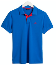 Load image into Gallery viewer, GANT Contrast Collar Pique Polo Nautical Blue