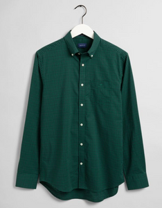 GANT Gingham Regular Button Down Shirt Ivy Green