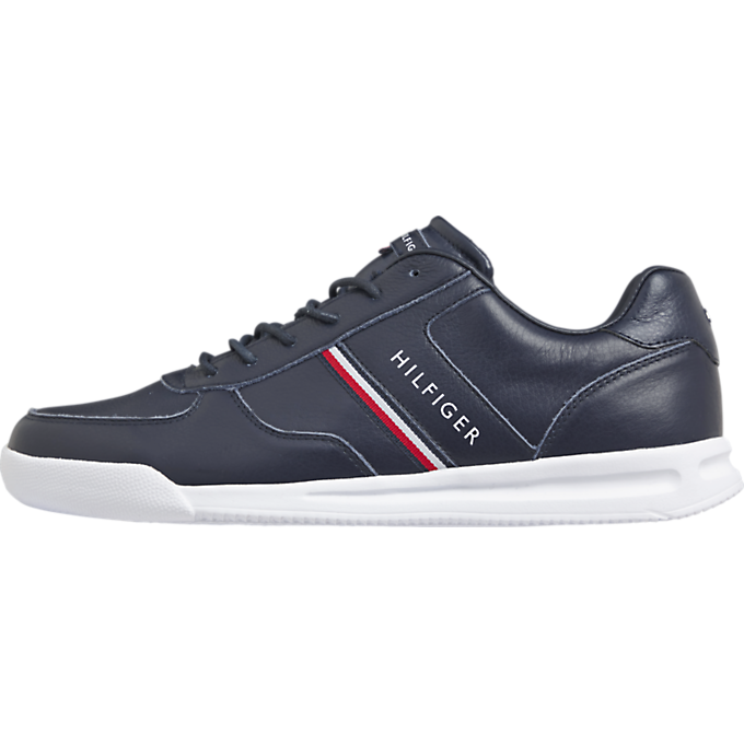 Tommy Hilfiger Lightweight Leather Mix Sneaker Desert Sky