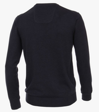 Load image into Gallery viewer, Casa Moda V-Neck Jumper Navy