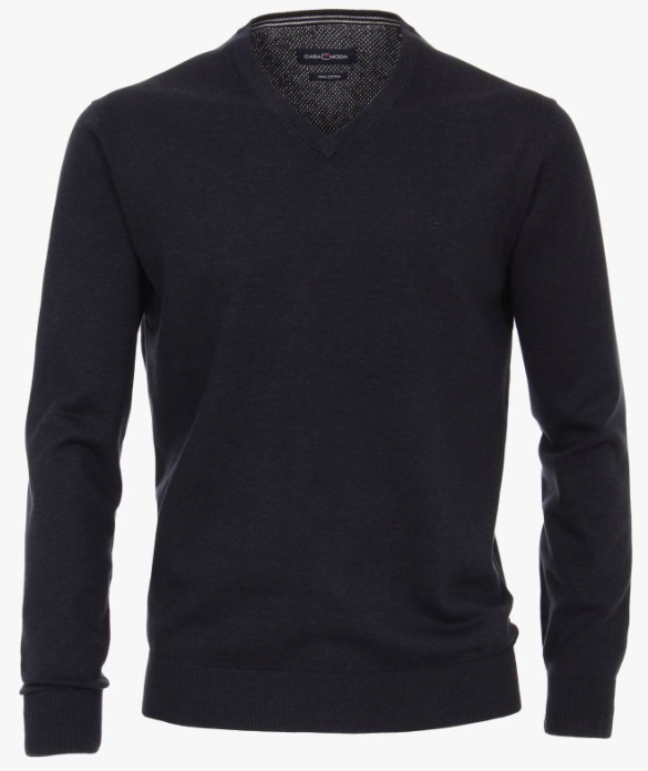 Casa Moda V-Neck Jumper Navy